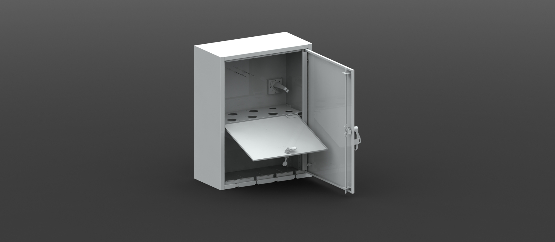 Exterior building communications enclosure for Exterior building products